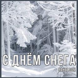 Открытка на день снега!