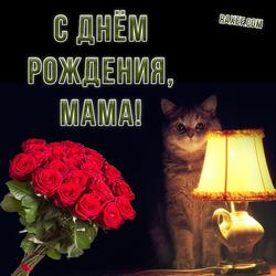 С днем рождения маме. Открытка. Картинка. Поздравления любимой маме ко дню рождения.