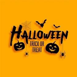 Счастливого хэллоуина! Открытка! Картинка! Красивая на жёлтом фоне!