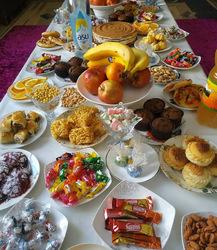 Ураза Байрам! Картинка! Открытка! Дастархан! Фото! Стол с едой!