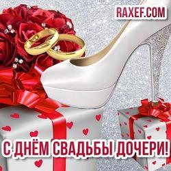 Маме невесты! Картинка, открытка на день свадьбы дочки! Поздравление своими словами! Открытка с туфлями, подарками, цветами!